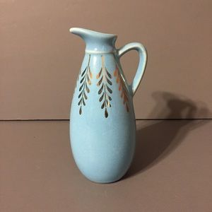 Other - Vtg Blue 22 K Gold Leaf Syrup Pitcher